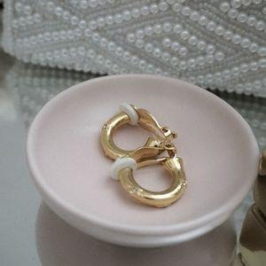Kirks Folly Chunky Gold small hoop earrings